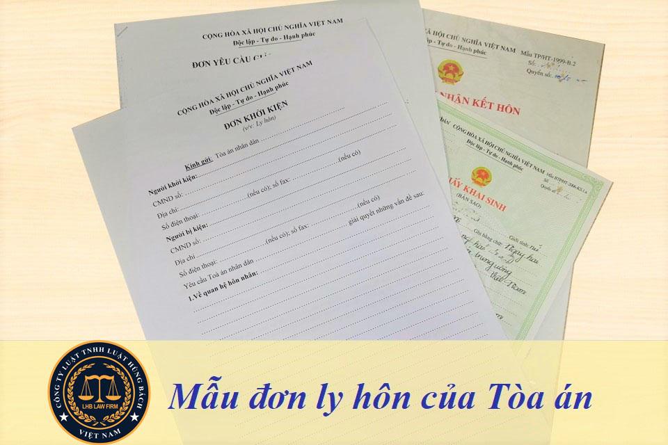 Mẫu đơn ly hôn Phú Thọ